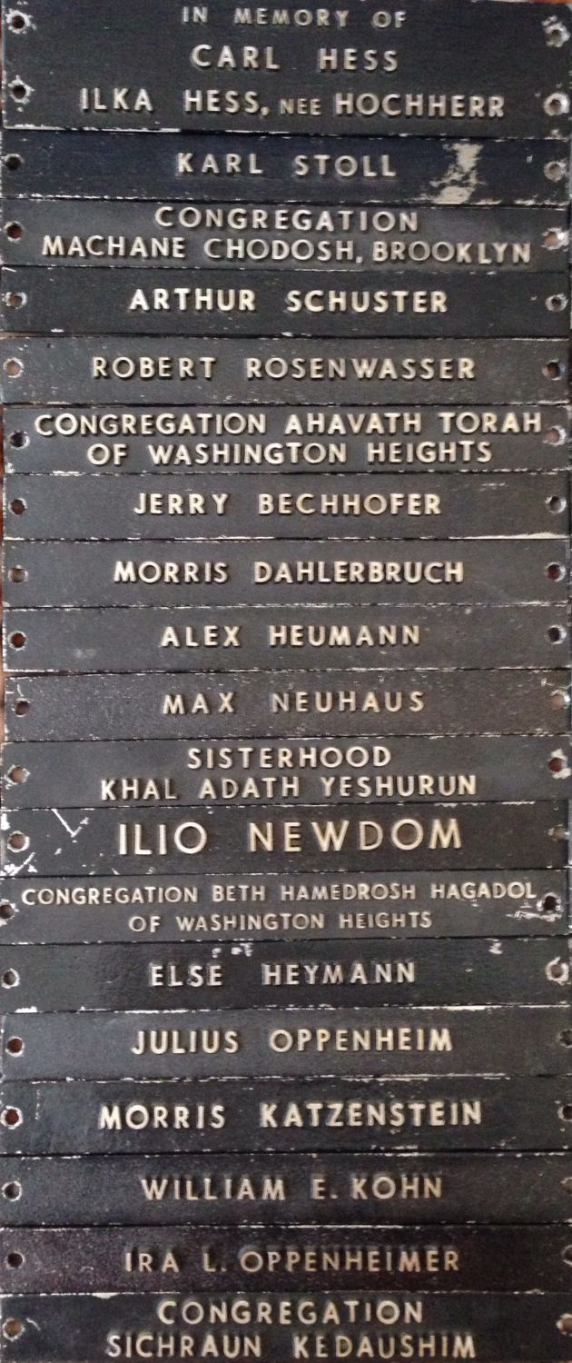 JewishGen Memorial Display - USA-00073